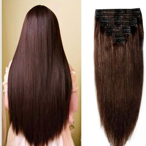100% Remy human hair clip in extensions